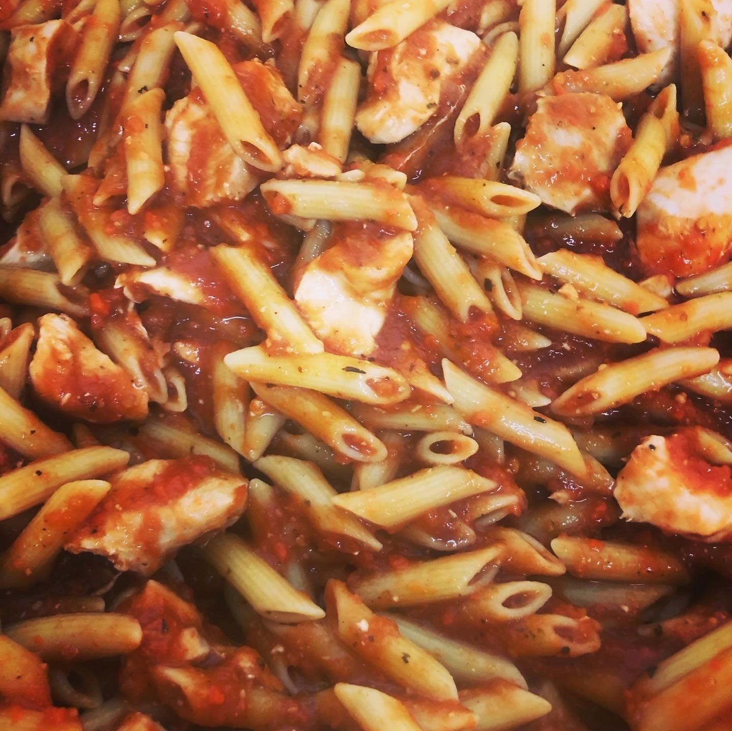 The Hungry Housewife's Eats  Penne Chicken Arrabbiata