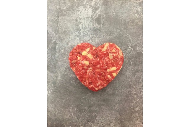 Sweet Heart Cheesy Beef Burger - Pack of 2