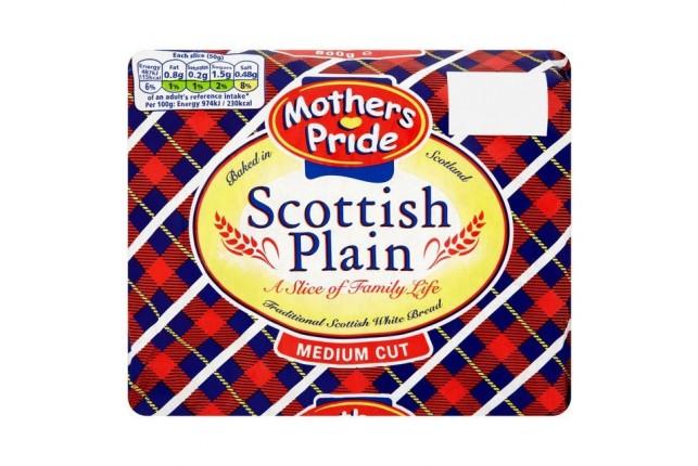 Mothers Pride Scottish Plain Medium Cut Bread 800g